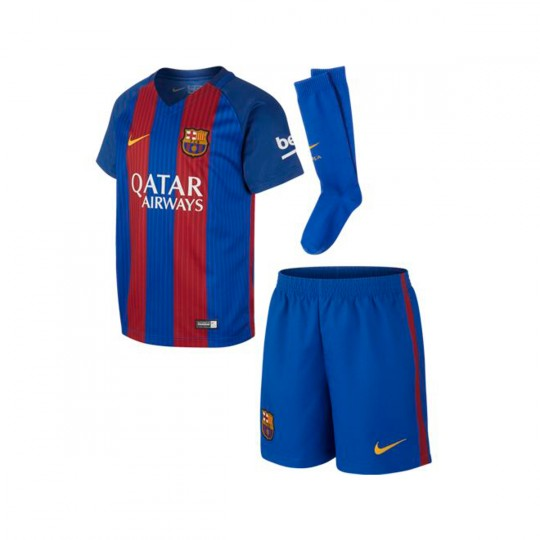 Conjunto  Nike jr FC Barcelona Home Infant Kit 2016-2017 Sport royal-Gym red-University gold