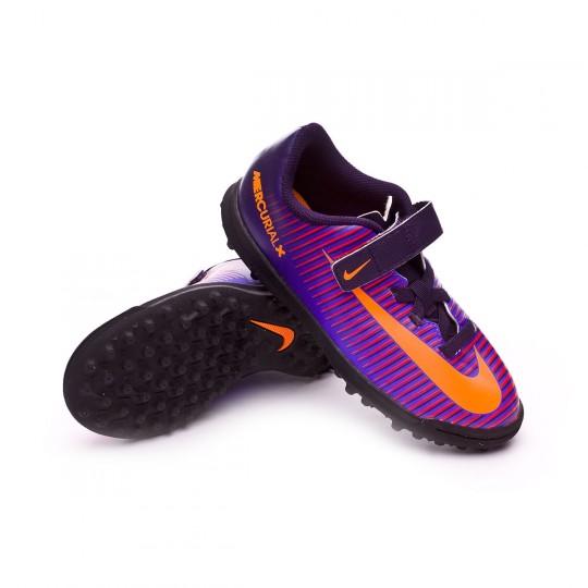Zapatilla  Nike jr MercurialX Vortex III VelcroTurf Purple dynasty-Bright citrus-Hyper grape
