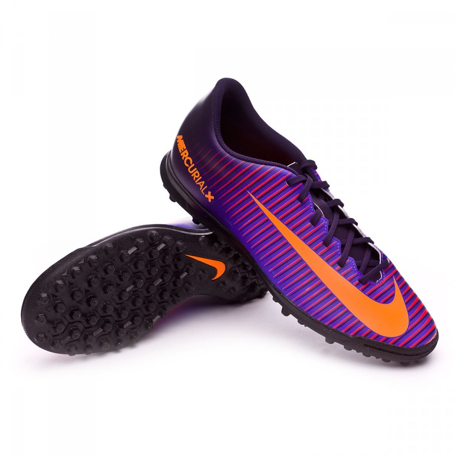 9de9a6f07 Football Boot Nike MercurialX Vortex III Turf Purple dynasty-Bright ...