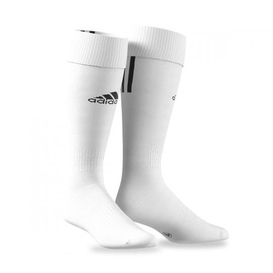 Medias  adidas Santos 3 Stripe Blanco-Negro