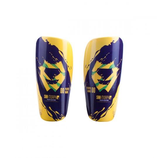 Espinillera  SAK jr Morph Youth Edition ID (Personalizable) Azul-Amarillo