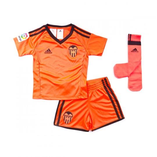 Conjunto  adidas jr Valencia CF 3ª Equipación Mini 2016-2017 Solar orange-Black