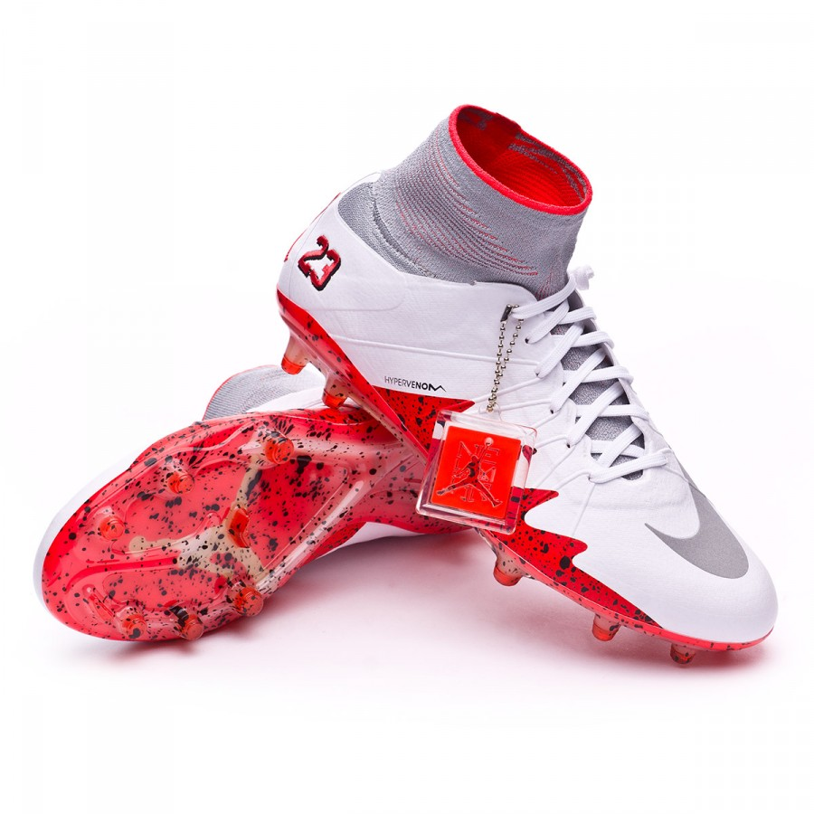 d83fb0996 HyperVenom Phantom II ACC Neymar Jr FG White-Reflect silver-Light crimson- Black