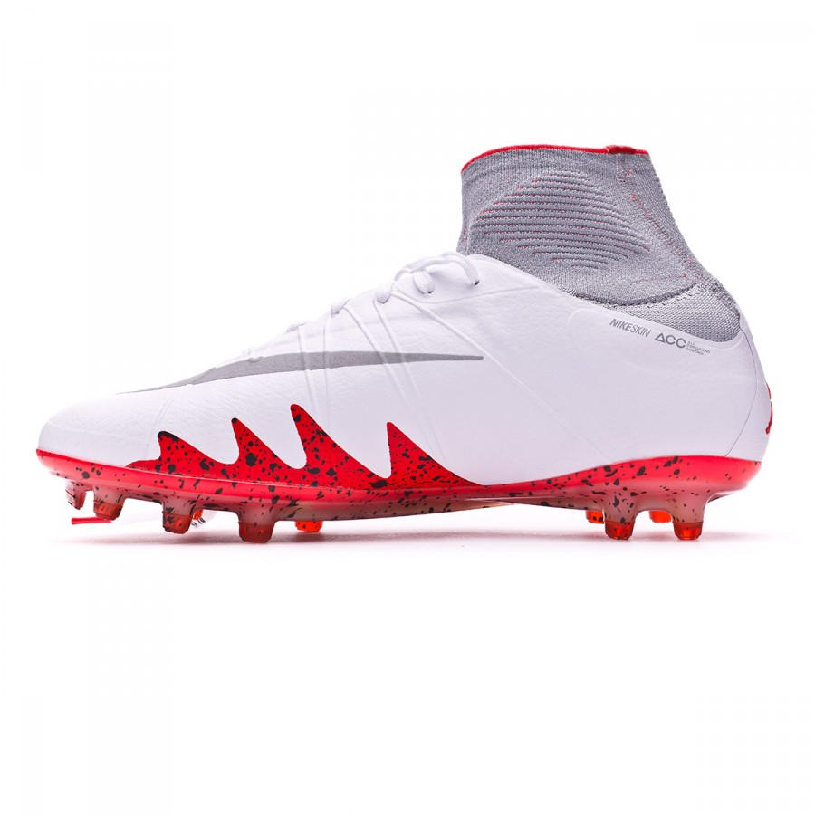 hot sale online f8c02 367b3 Football Boots Nike HyperVenom Phantom II ACC Neymar Jr FG White-Reflect  silver-Light crimson-Black - Tienda de fútbol Fútbol Emotion