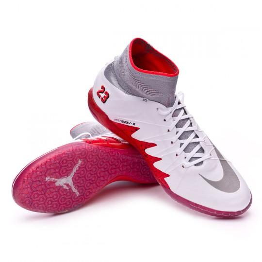Sapatilha de Futsal  Nike HyperVenomX Proximo Neymar jr IC White-Reflect silver-Light crimson-Black