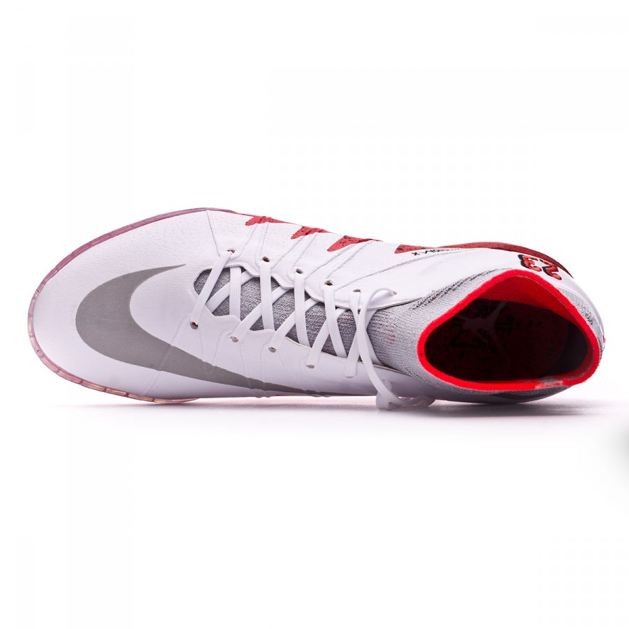 ea0044c02ec0 Futsal Boot Nike HyperVenomX Proximo Neymar Jr IC White-Reflect silver-Light  crimson-Black - Football store Fútbol Emotion