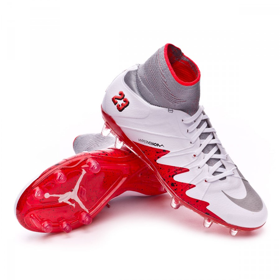 e0be32167c4a Nike Kids HyperVenom Phantom II ACC Neymar Jr FG Football Boots. White-Reflect  silver-Light crimson-Black ...