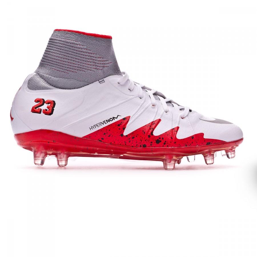 f870523913c8 Football Boots Nike Kids HyperVenom Phantom II ACC Neymar Jr FG  White-Reflect silver-Light crimson-Black - Football store Fútbol Emotion