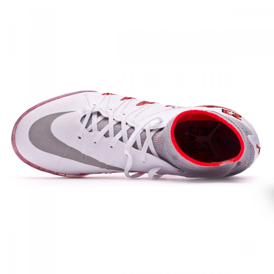 6dada7d6ad3 Football Boot Nike Kids HyperVenomX Proximo Neymar Jr Turf White-Reflect  silver-Light crimson-Black - Tienda de fútbol Fútbol Emotion