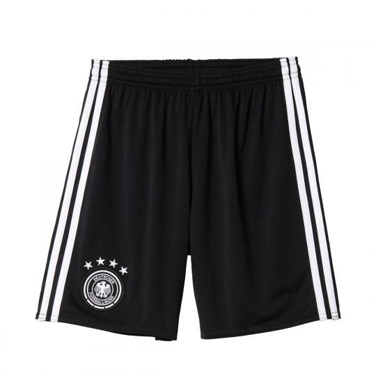 Pantalón corto  adidas Alemania Home 2016-2017 Black-White