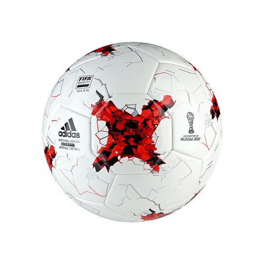 Balón  adidas Confed art Turf White-Red