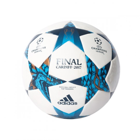Balón  adidas Finale Cardiff 2017 Top Training White-Blue