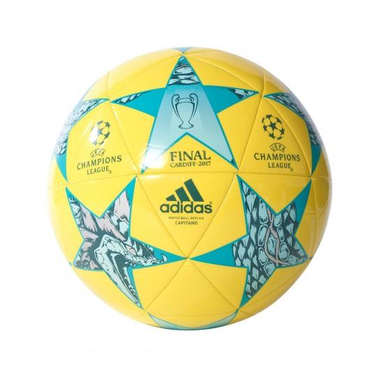 Balón  adidas Finale Cardiff 2017 Capitano Yellow-Cyan