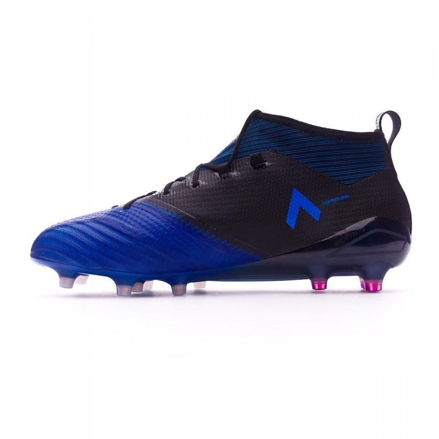 check out 9b494 9950d Boot adidas Ace 17.1 Primeknit FG Core black-White-Blue - Football store  Fútbol Emotion