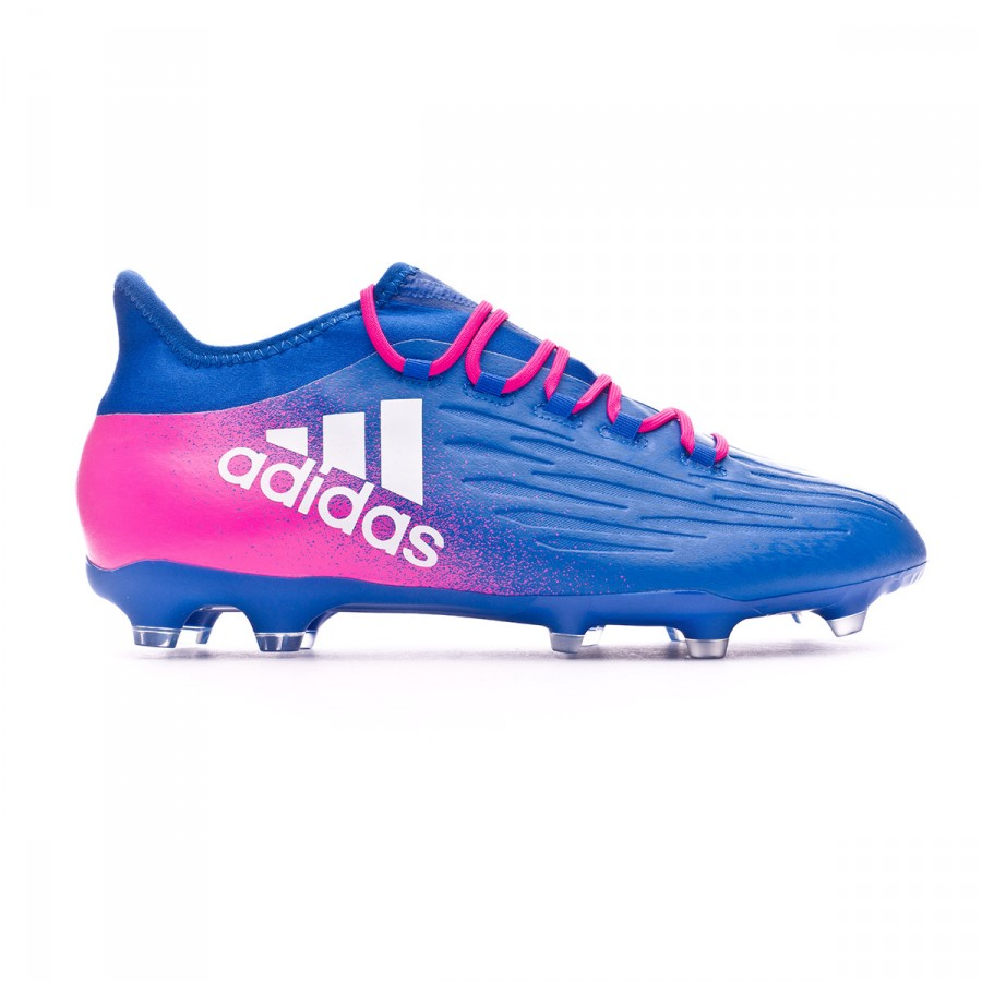 76ff23949a2 Football Boots adidas X 16.2 FG Blue-White-Shock Pink - Football store  Fútbol Emotion