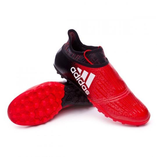 Zapatilla de fútbol sala  adidas X Tango 16+ Purechaos Turf Red-Core black-White