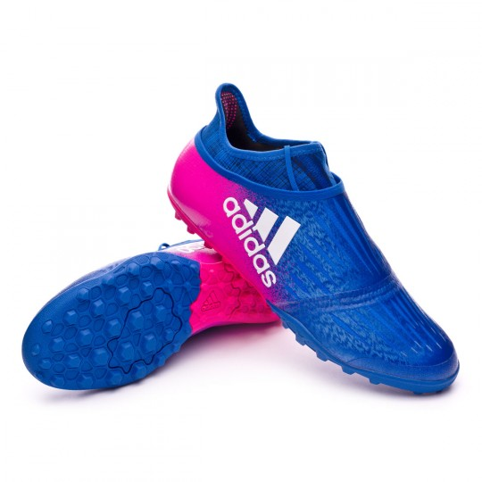 Zapatilla  adidas X Tango 16+ Purechaos Turf Blue-White-Shock pink