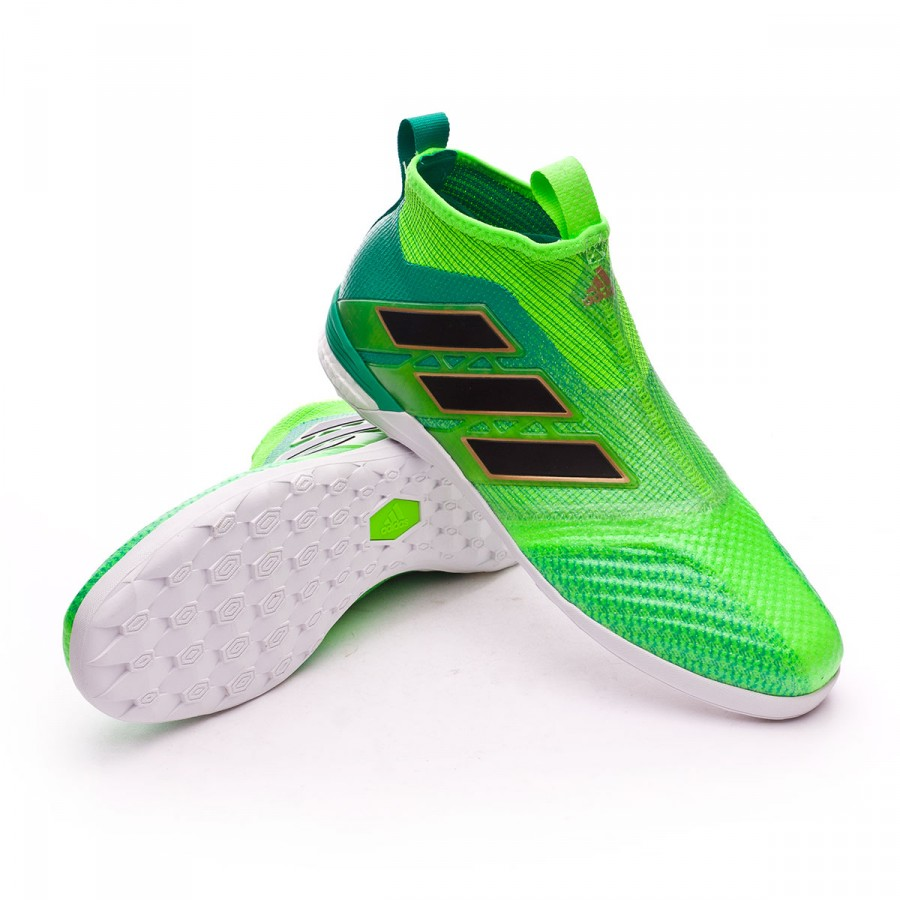 tablero medio acuerdo  Futsal Boot adidas Ace Tango 17+ Purecontrol IN Solar green-Core black-Core  green - Football store Fútbol Emotion