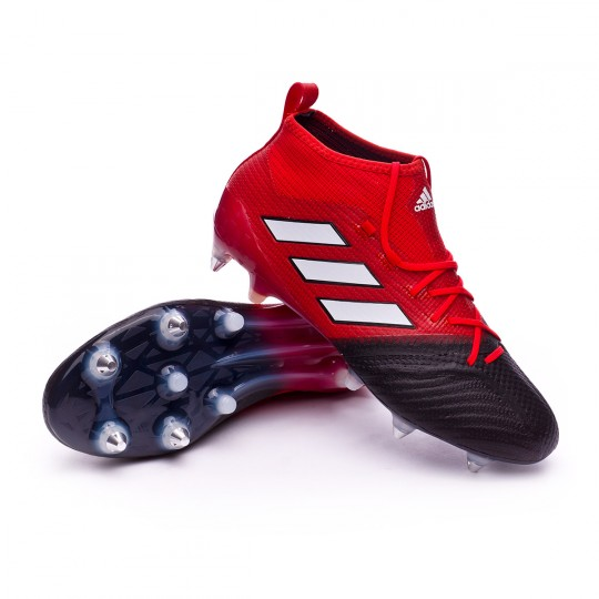 Chaussure  adidas Ace 17.1 Primeknit SG Red-White-Core black