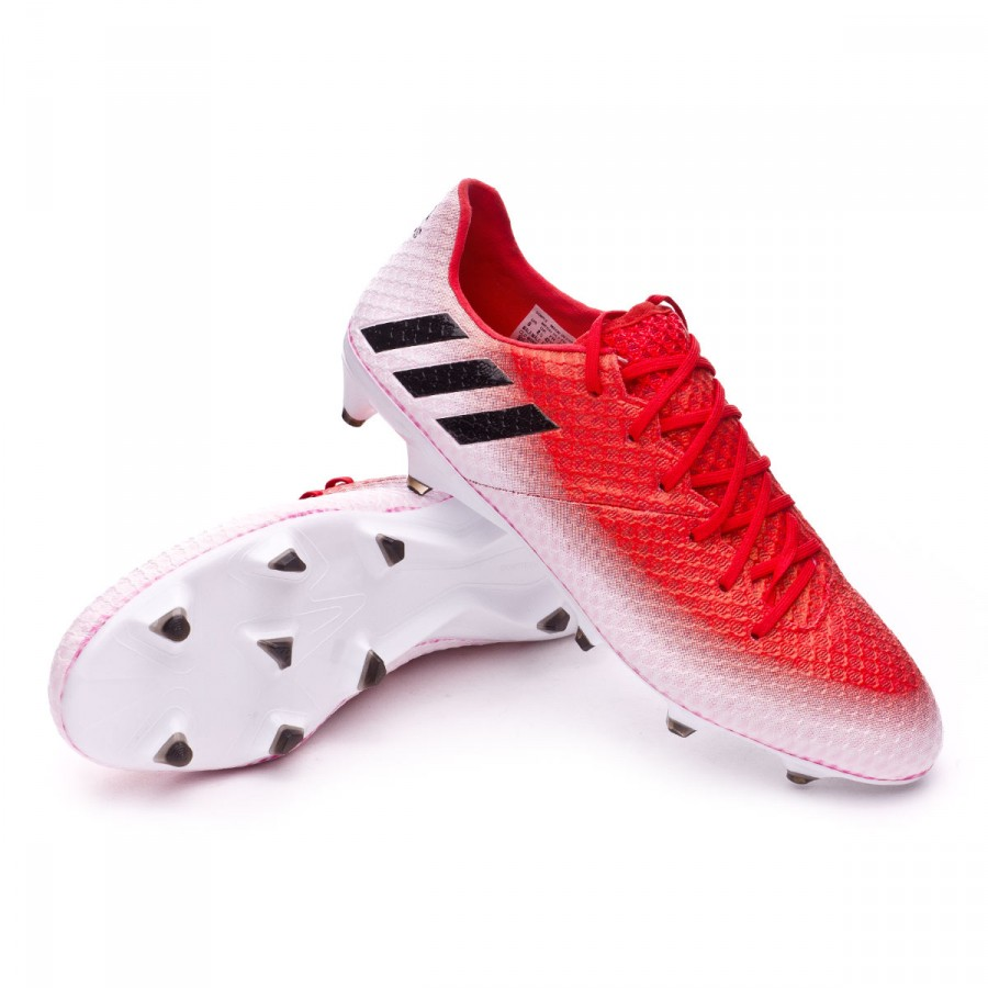 f5515374407 Football Boots adidas Messi 16.1 FG Red-Core black-White - Tienda de ...
