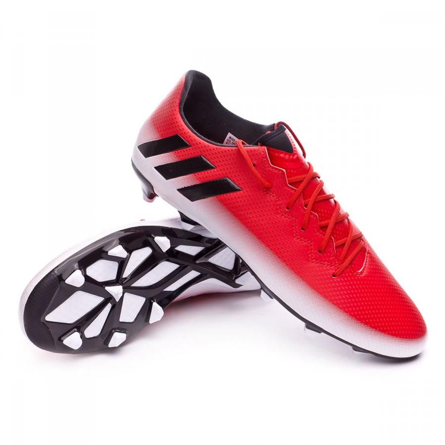 Boot adidas Messi 16.3 FG Red-Core black-White - Football store ... e3d6f9196e6f9