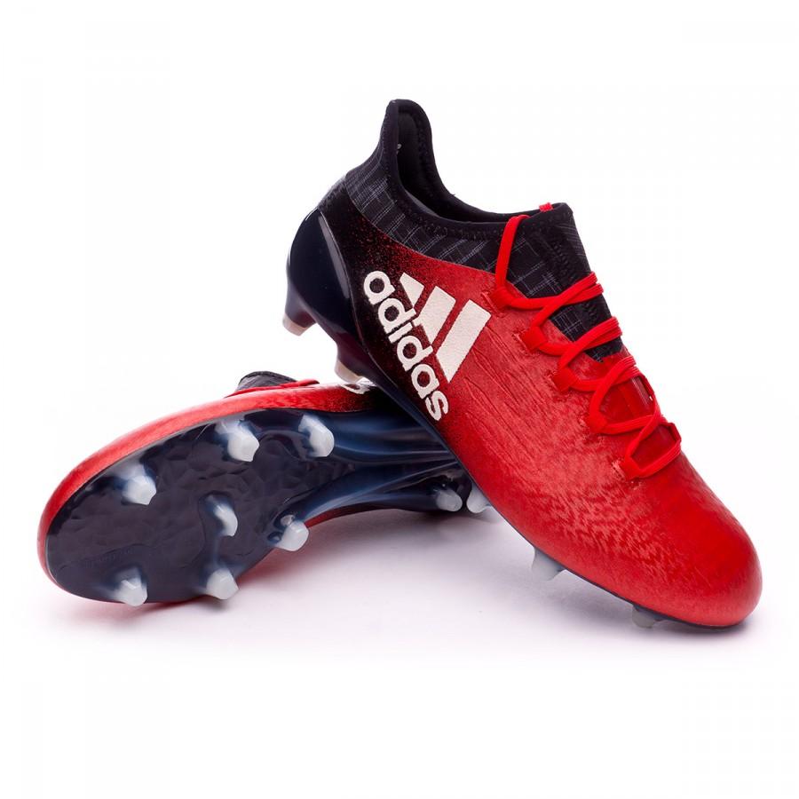 Boot adidas x fg rosso - bianco - nero ú tbol nucleo football negozio f
