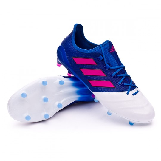 Chaussure  adidas Ace 17.1 FG Piel White-Shock pink-Blue