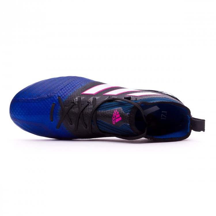 Bota de fútbol adidas Ace 17.1 Primeknit SG Core black-White-Blue ... 174e2f40b8ed5