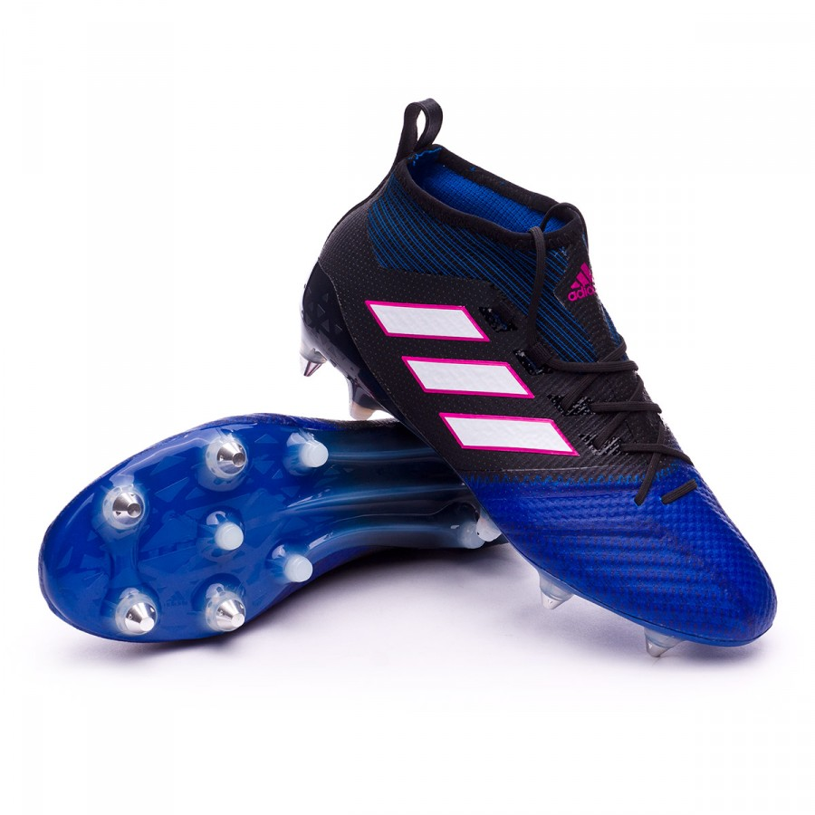 c473161907f Football Boots adidas Ace 17.1 Primeknit SG Core black-White-Blue ...