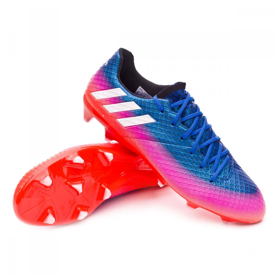 9096a6573 adidas Messi 16.1 FG Football Boots. Blue-White-Solar orange ...