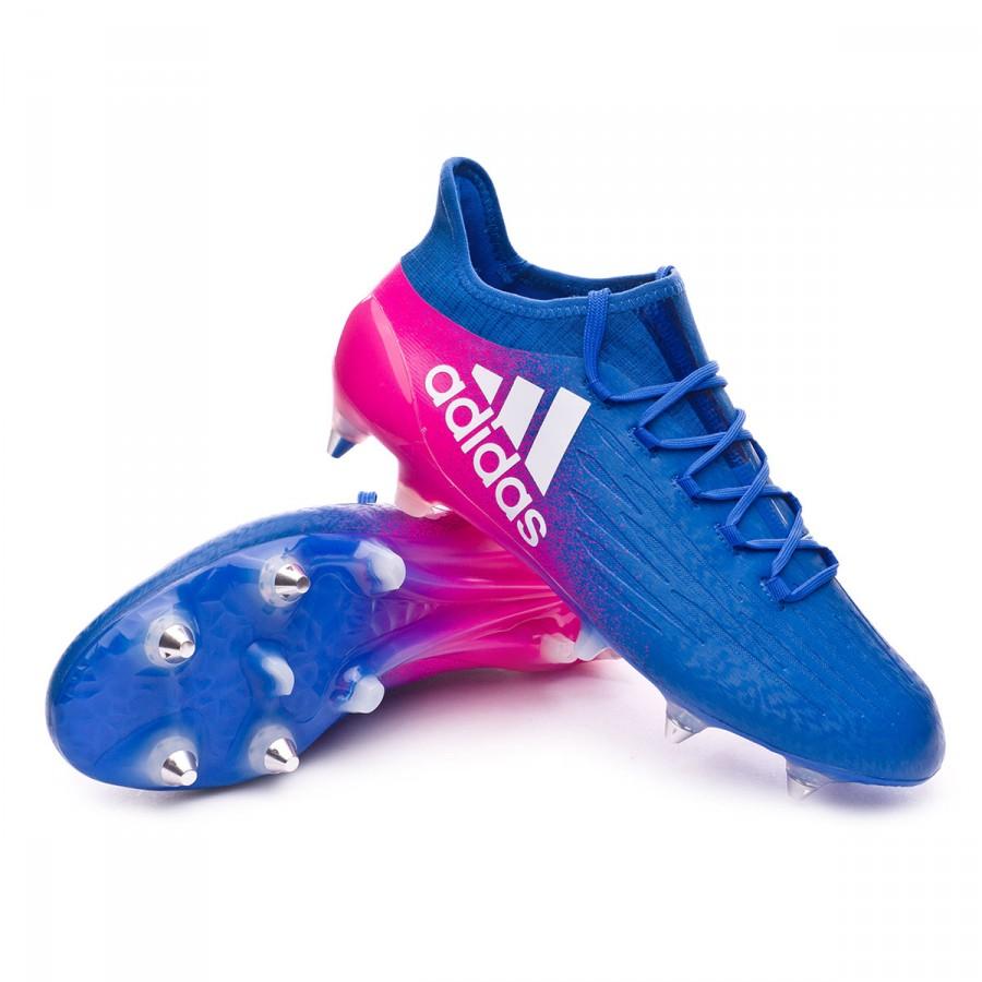 ecc55481838 Football Boots adidas X 16.1 SG Blue-White-Shock pink - Football ...