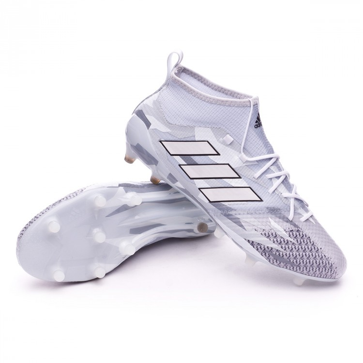 4307a4e47872 Football Boots adidas Ace 17.1 Primeknit FG Clear grey-White-Core ...