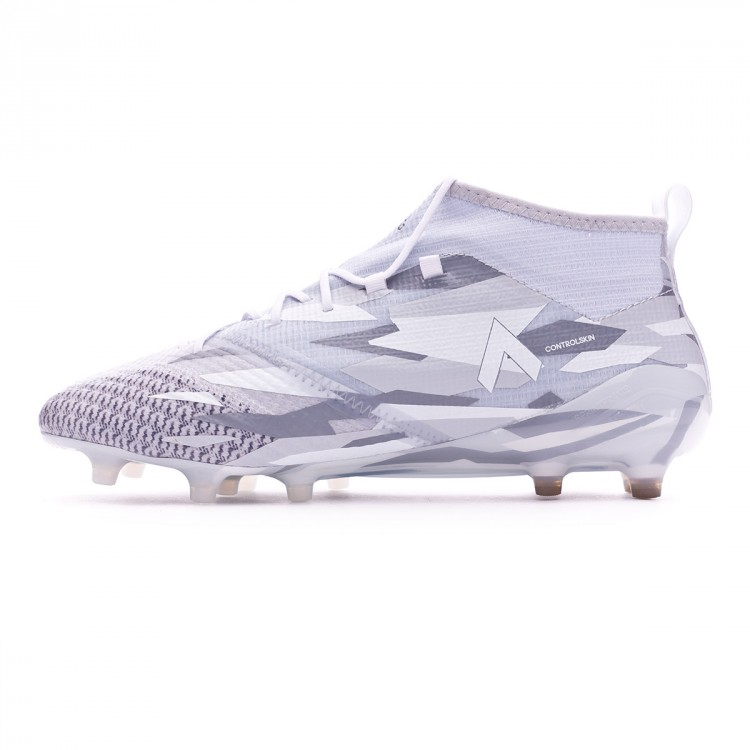 72f914684 Football Boots adidas Ace 17.1 Primeknit FG Clear grey-White-Core ...
