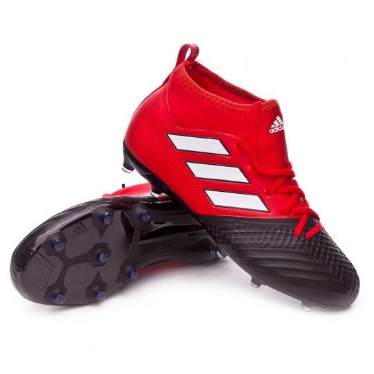 Bota  adidas jr Ace 17.1 FG Red-White-Core black