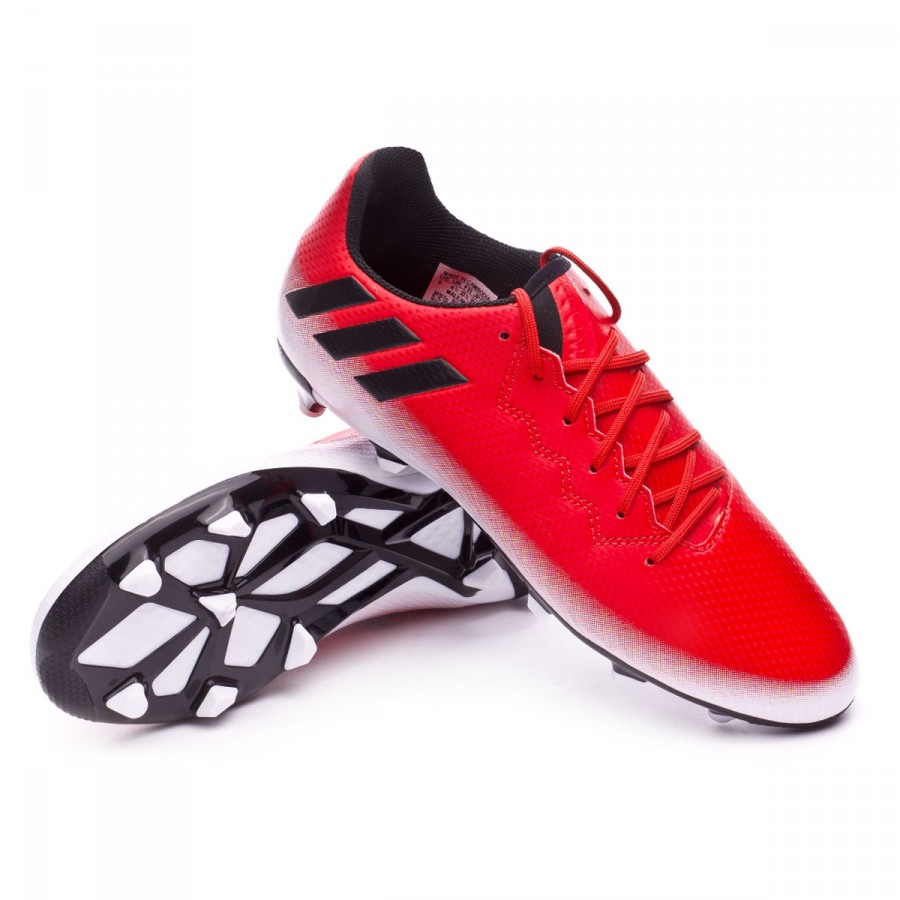 151465fd5e00 Football Boots adidas Messi 16.3 FG Kids Red-Core black-White ...