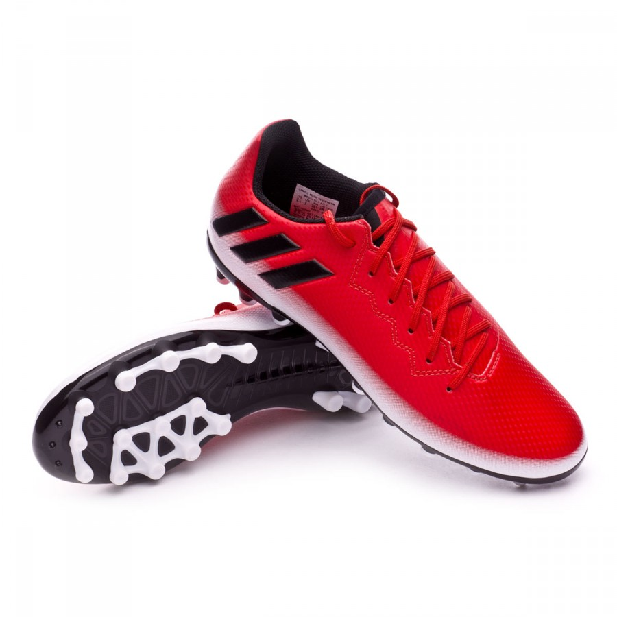 98cf107d2a863 Zapatos de fútbol adidas Messi 16.3 AG Niño Red-Core black-White - Tienda  de fútbol Fútbol Emotion