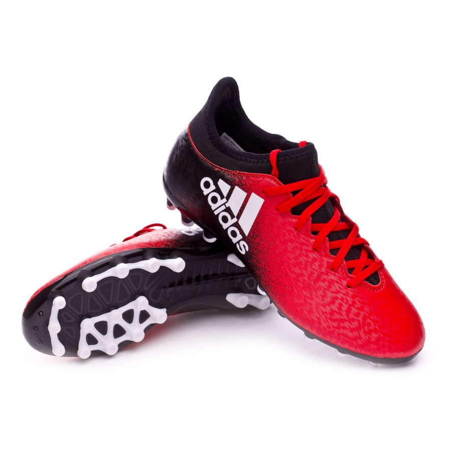 huge discount fb8d9 d21ce Bota X 16.3 AG Niño Red-White-Core black