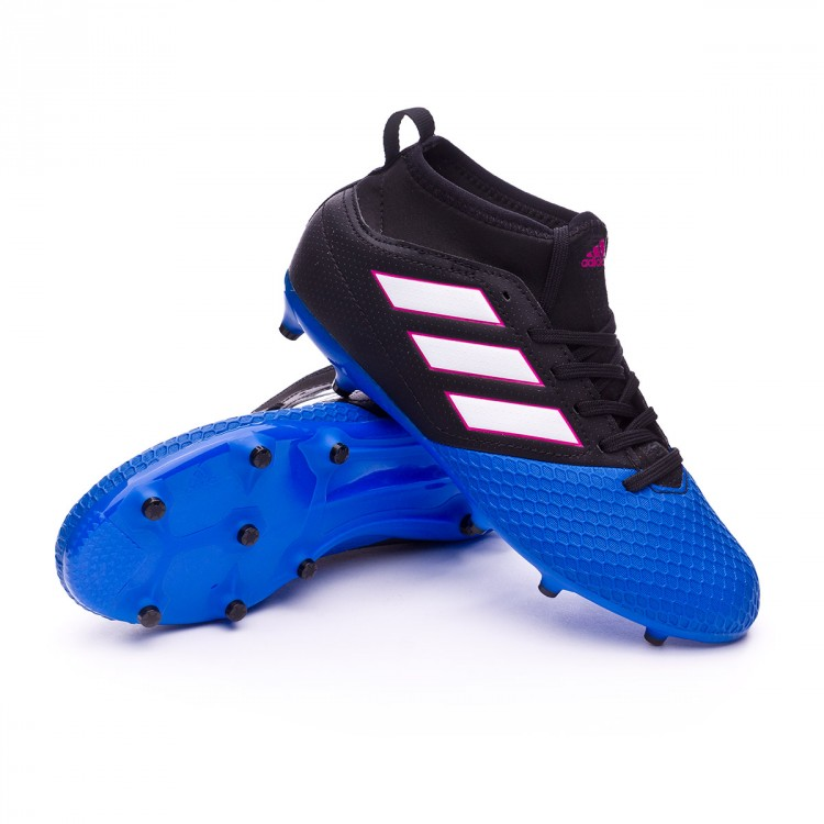 Bota Ace 17.3 FG Niño Core black White Blue