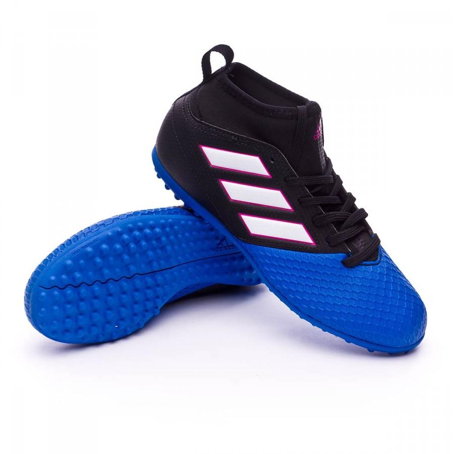 f20576b3778 adidas Jr Ace 17.3 Primemesh Turf Football Boots. Core black-White-Blue ...
