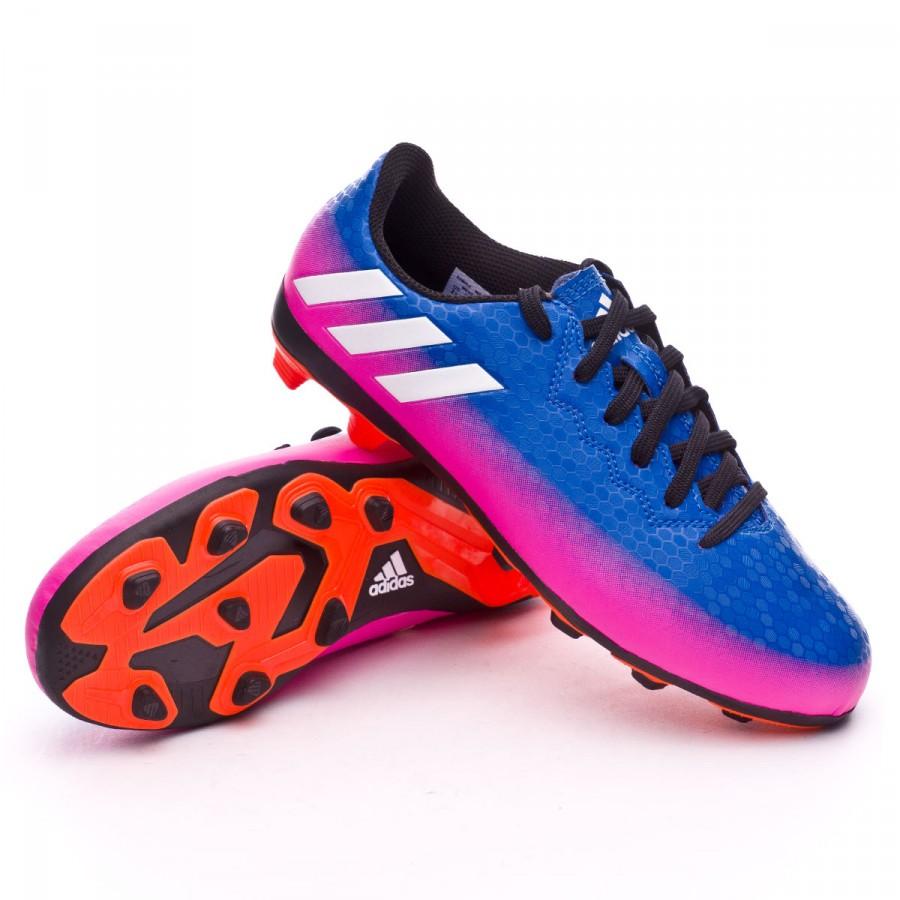 8a888c163fc03 Zapatos de fútbol adidas Messi 16.4 FxG Niño Blue-White-Solar orange -  Tienda de fútbol Fútbol Emotion