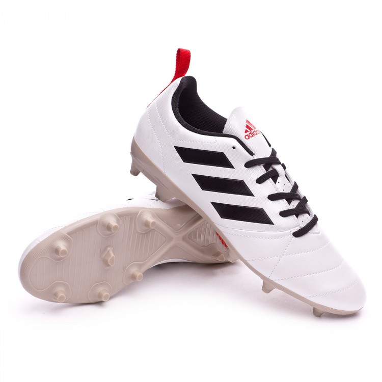 Boot adidas Woman Ace 17.4 FG White-Core black-Core red - Football ... 4a74e6103