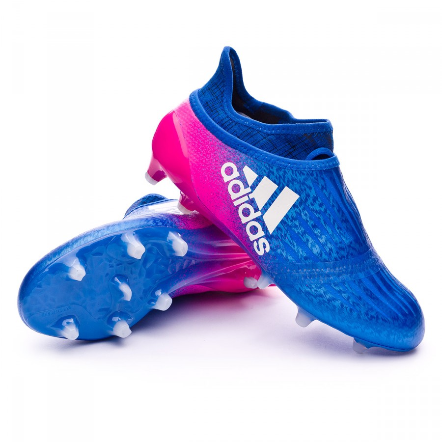 timeless design 02f50 01dc2 ... Bota X 16+ Purechaos FG Niño Blue-White-Shock pink. CATEGORY. Football  boots · adidas football boots
