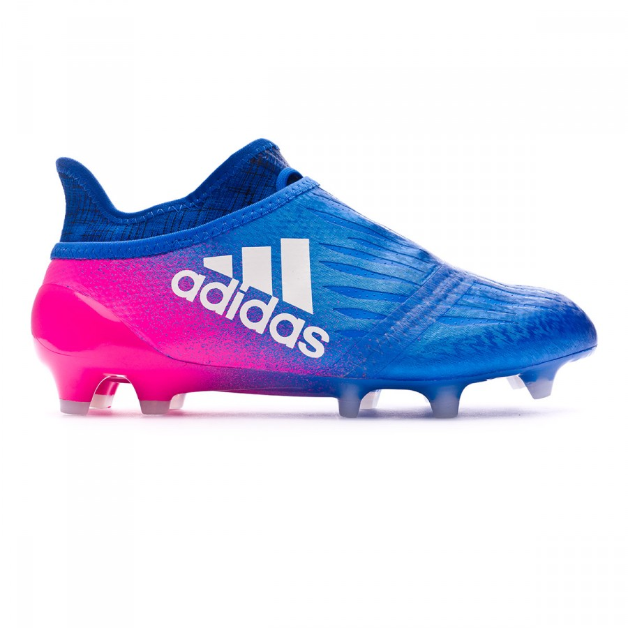 dc4cc507fb3 Zapatos de fútbol adidas X 16+ Purechaos FG Niño Blue-White-Shock pink -  Tienda de fútbol Fútbol Emotion
