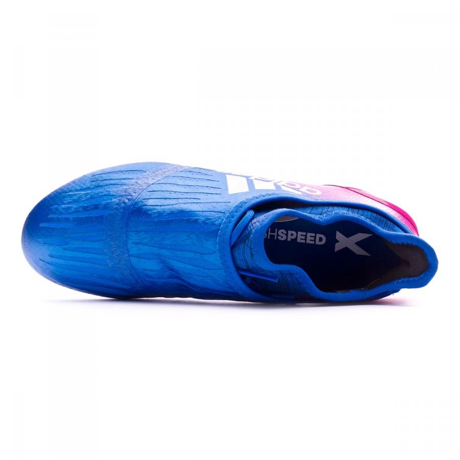 8bfcc2d3330 Bota de fútbol adidas X 16+ Purechaos FG Niño Blue-White-Shock pink -  Tienda de fútbol Fútbol Emotion