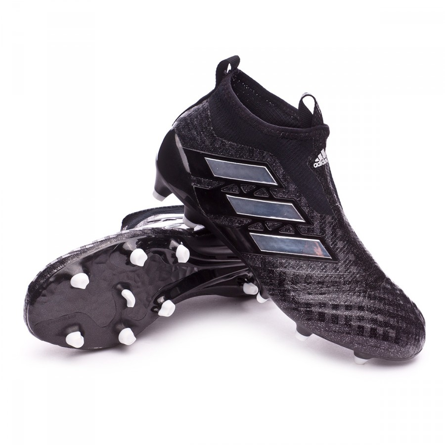 Boot adidas Jr Ace 17+ Purecontrol FG Core black-White-Core black ... f4a3779551509