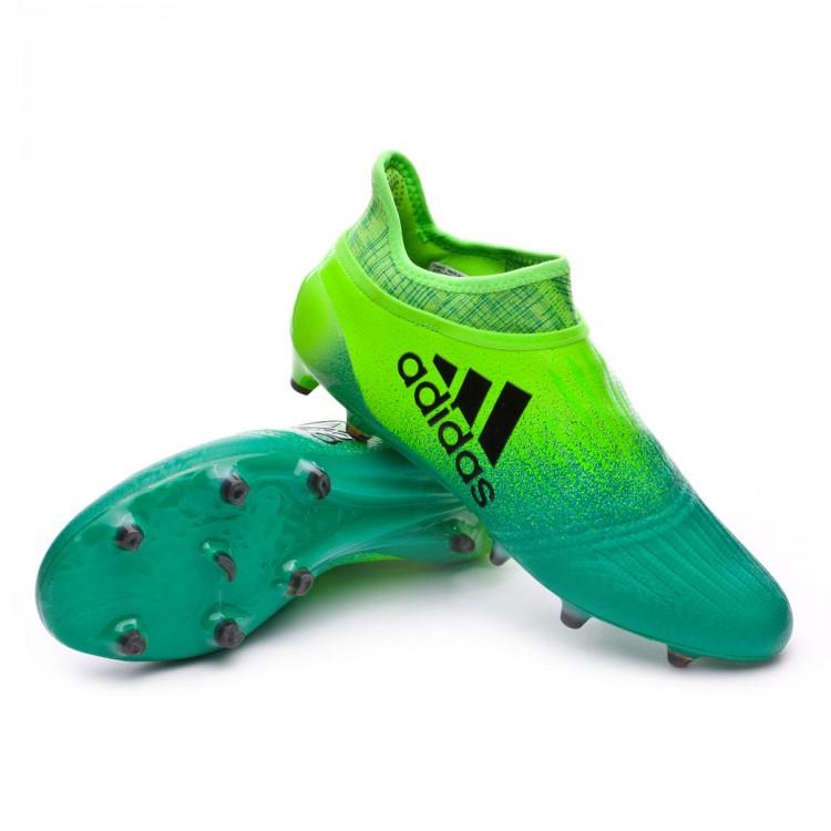 Bota de fútbol adidas X 16+ Purechaos FG Solar green-Core black ... 24bdec9a50f35