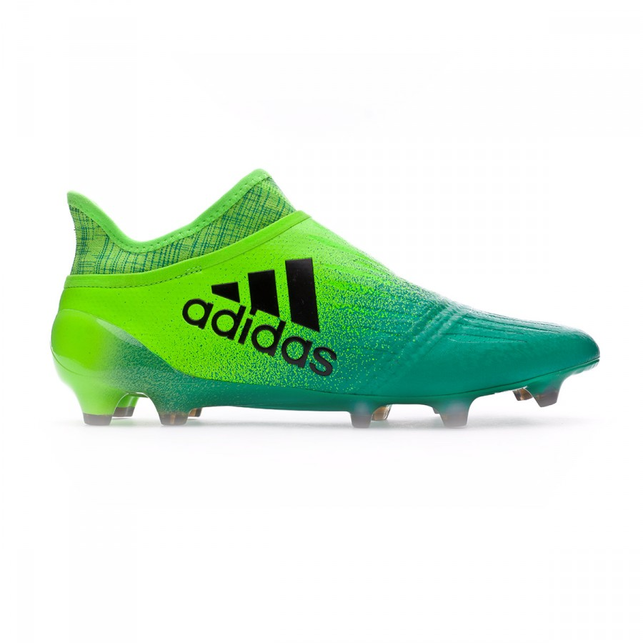 Boot adidas X 16+ Purechaos FG Solar green-Black - Football store ... 13b4fdc965135