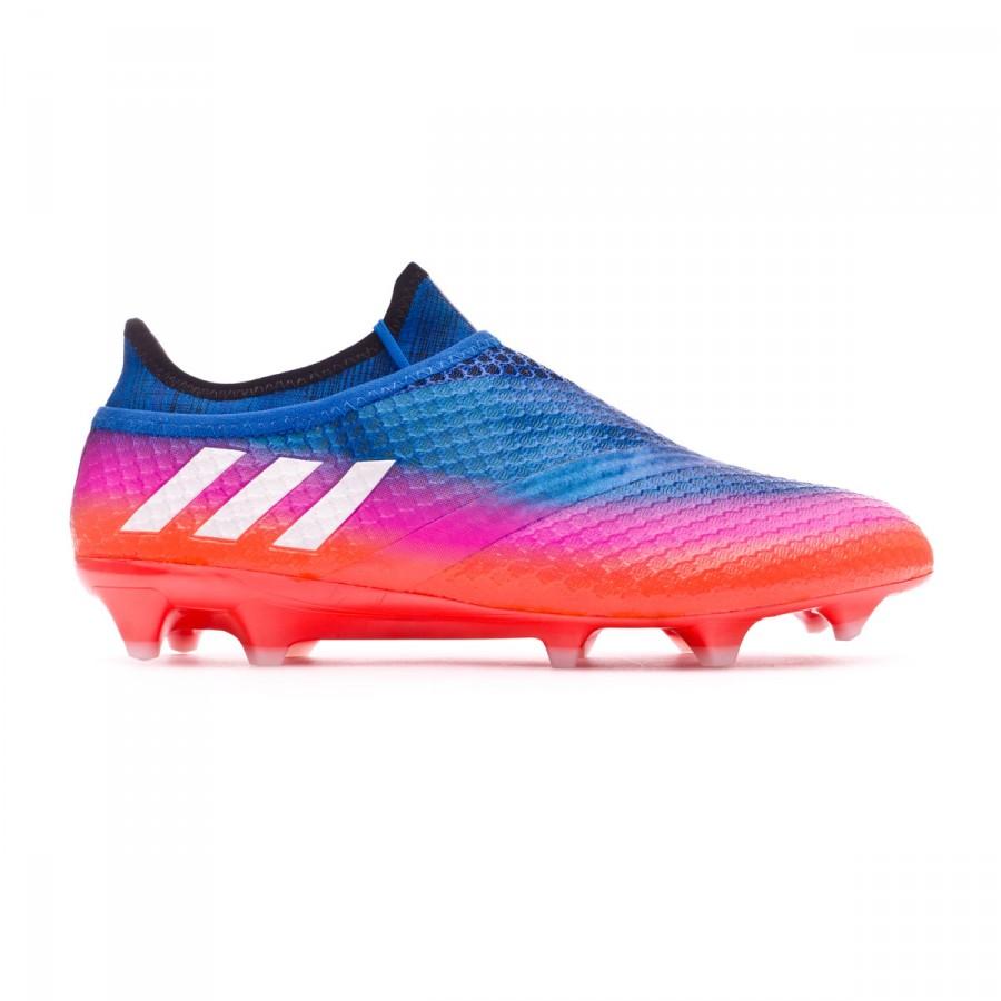 2bc7b008b Football Boots adidas Messi 16+ Pureagility FG Blue-Pink-Red - Tienda de  fútbol Fútbol Emotion