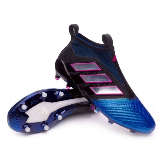 Chaussure  adidas Ace 17+ Purecontrol FG Core black-White-Blue