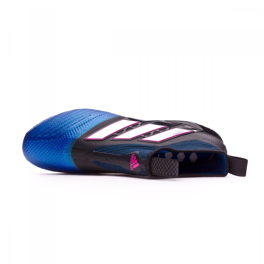 more photos 3e1e0 6f8e4 Football Boots adidas Ace 17+ Purecontrol FG Core black-White-Blue - Tienda  de fútbol Fútbol Emotion